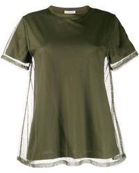 Moncler - メッシュレイヤード Tシャツ - Lyst
