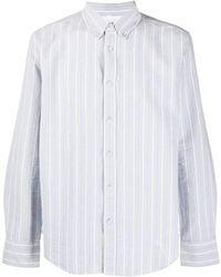 Rag & Bone Camisa a rayas con botones - Azul