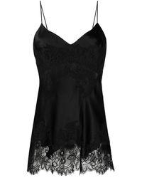 Ermanno Scervino Floral Silk Camisole - Black
