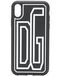 Dolce & Gabbana Logo Print Iphone Xr Case - Black
