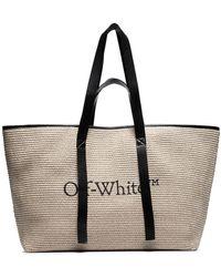 Off-White c/o Virgil Abloh Сумка-тоут Из Рафии С Логотипом - Черный