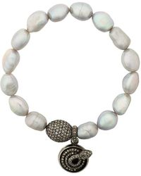Loree Rodkin Pearl Diamond Charm Bracelet - Metallic