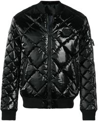 Philipp Plein Quilted Bomber Jacket - Черный