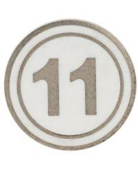 Maison Margiela 11 ロゴ ピアス - メタリック