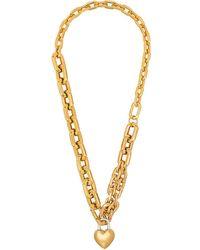 Ambush Plated Heart Padlock Necklace - Metallic