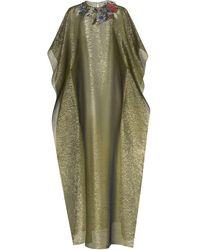 Oscar de la Renta フローラル イブニングドレス - グリーン