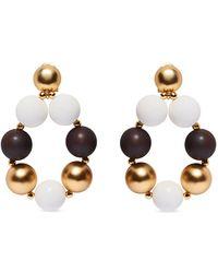 Carolina Herrera Sphere Drop Earrings - Metallic
