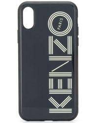 KENZO Iphone X Hoesje Met Logo - Zwart