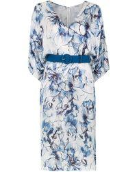 Tufi Duek Midi printed dress - Blanc