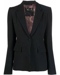 Philipp Plein Blazer con solapas de muesca y botones - Negro