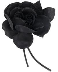 P.A.R.O.S.H. Flower Brooch - Black