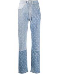 Marine Serre Jeans Met Maanprint - Blauw