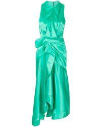 Acler Millbank Draped Sleeveless Dress - Green