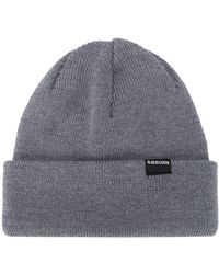 Raeburn Ribbed-knit Logo Patch Beanie - Gray