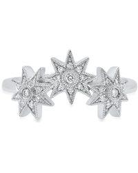 Colette Bague à étoiles en or blanc 18ct et diamants - Métallisé