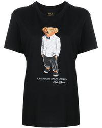 Polo Ralph Lauren Big Fit Tuxedo Polo Bear Tee - Black