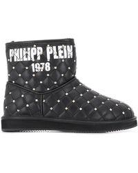 Philipp Plein Ботинки С Заклепками - Черный