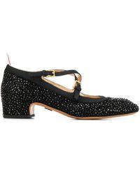 Thom Browne Zapatos Mary Jane con tiras entrecruzadas - Negro