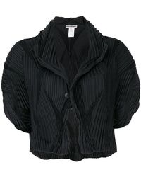 Issey Miyake - Pleated Cropped Jacket - Lyst