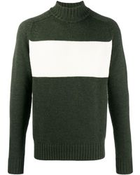 Woolrich Military Green Turtle Neck Wool Sweater