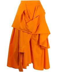 Enfold ミディスカート - オレンジ