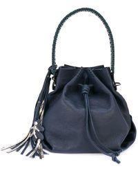 Henry Beguelin Tassel Bucket Bag - Blue