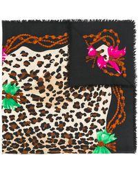 Dior Pañuelo con motivo de leopardo - Multicolor