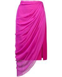 Prabal Gurung - Ruched Asymmetric Skirt - Lyst