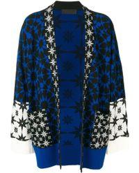 Haider Ackermann Geometric Intarsia Cardigan - Blue