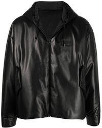 Valentino ロゴパッチ パデッドジャケット - ブラック