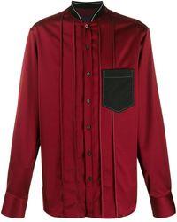 Lanvin Рубашка С Высоким Воротником - Красный