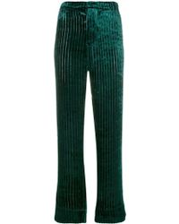 F.R.S For Restless Sleepers High Waisted Piping Trousers - グリーン