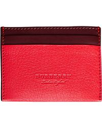 Burberry - Two-tone Card Case - Lyst