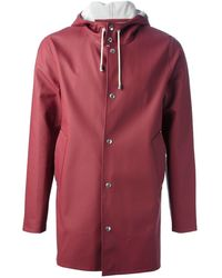 Stutterheim 'stockholm' Raincoat - Red