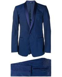 Dolce & Gabbana - Anzug mit Seideneinsätzen - Lyst
