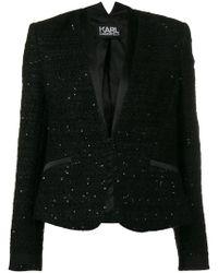 Karl Lagerfeld - Sequinned Boucle Blazer - Lyst