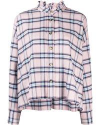 Étoile Isabel Marant Рубашка В Клетку С Оборками На Воротнике - Розовый