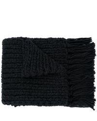 Saint Laurent - Écharpe longue en tricot - Lyst