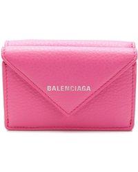 Balenciaga Мини-кошелек 'paper' - Розовый