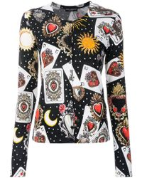 Dolce & Gabbana | Playing Cards Cardigan | Lyst