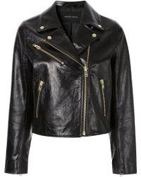 Nobody Denim - High-shine Leather Jacket - Lyst