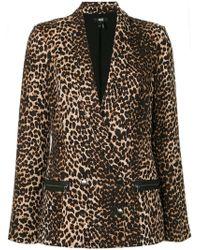 PAIGE Blazer con estampado de leopardo - Marrón