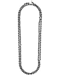 Ann Demeulemeester - Long Crystal Chain Necklace - Lyst