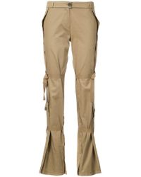 TOME - Tied-detail Flared Trousers - Lyst