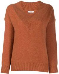Co. カシミア Vネックセーター - ブラウン