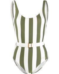 Solid & Striped Anne Marie ストライプ 水着 - グリーン