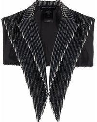BARBARA BOLOGNA Cuello con motivo de rayas - Negro