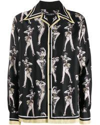 Dolce & Gabbana Pin-up プリント Tシャツ - ブラック