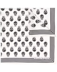 Alexander McQueen Schal mit Totenkopf-Print - Weiß