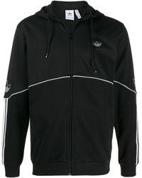 adidas Chaqueta deportiva con capucha - Negro